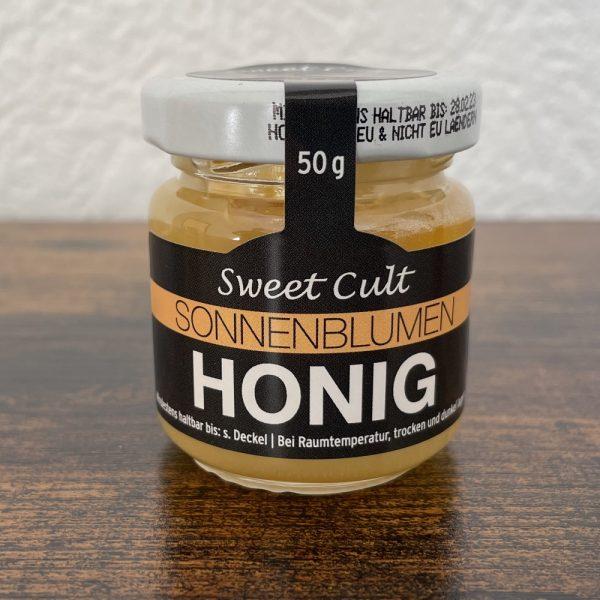 MyBioTea Sonnenblumenhonig 50g Glas Honig für Bio Tee